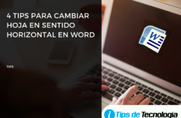 4 tips para cambiar hoja en sentido horizontal word
