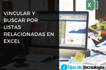 Vincular y buscar por listas en Excel