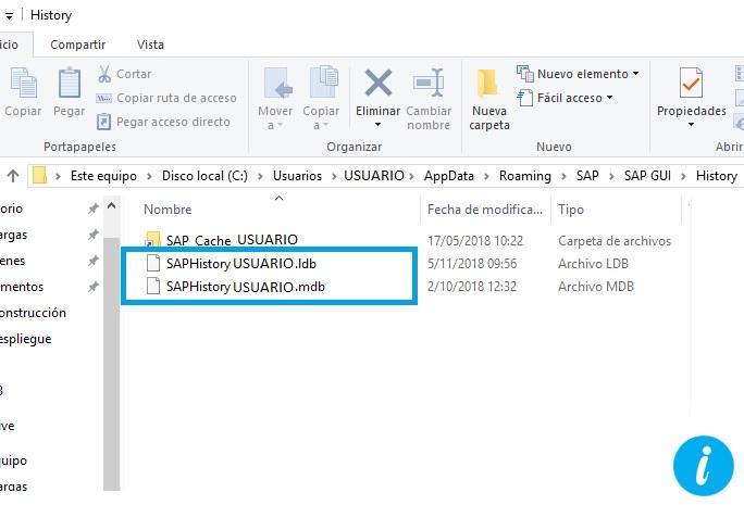 Archivo historial SAP