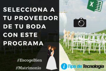 Programa para Seleccionar Proveedores en tu boda