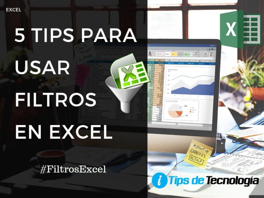 5 tips para usar filtros en Excel