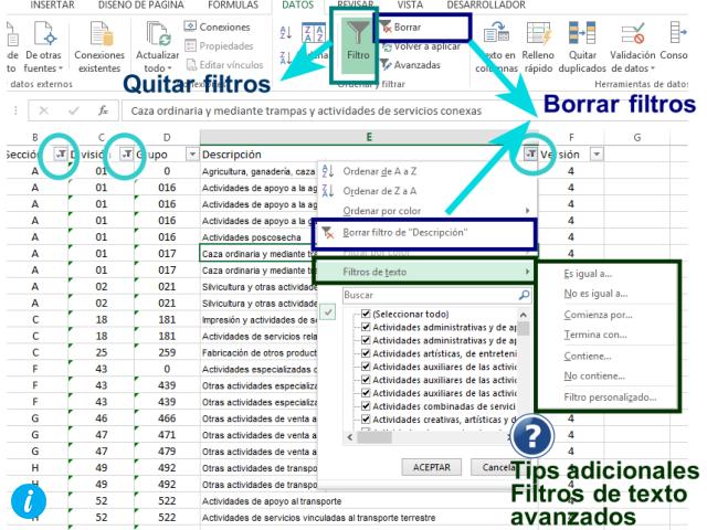 aplica más de un filtro en Excel