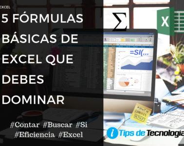 5 fórmulas básica de Excel que debes dominar
