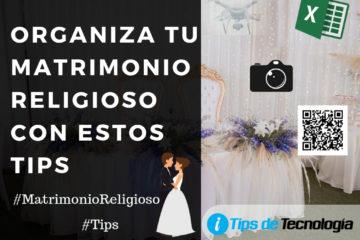 Organiza tu matrimonio religioso con estos tips
