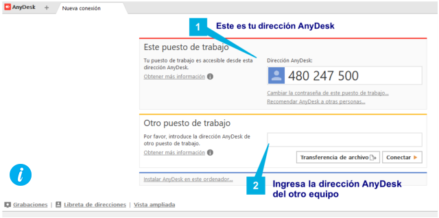 Anydesk compartir pantalla