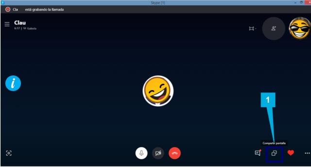 Skype compartir pantalla