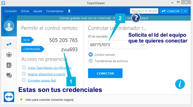 Teamviewer compartir pantalla
