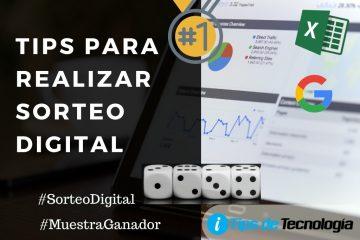 Tips para realizar sorteo digital