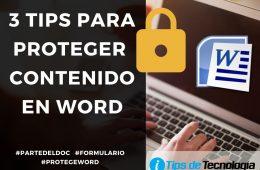 tips para proteger contenido en Word