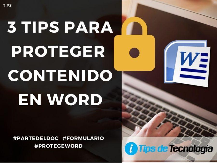 3 tips para proteger contenido en Word